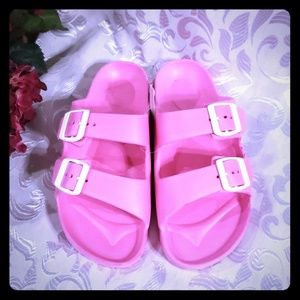 Shoes - Beachwear water strappy pink sandals size 8/8.5